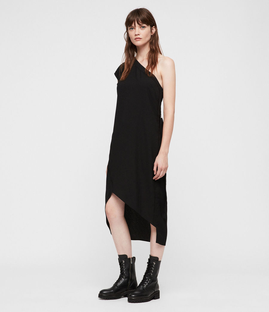 Womens Luana Dress (black) - Image 3