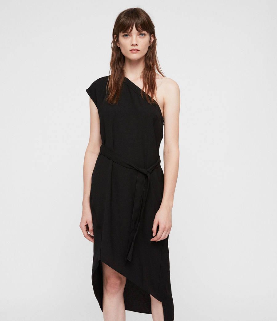 Womens Luana Dress (black) - Image 4