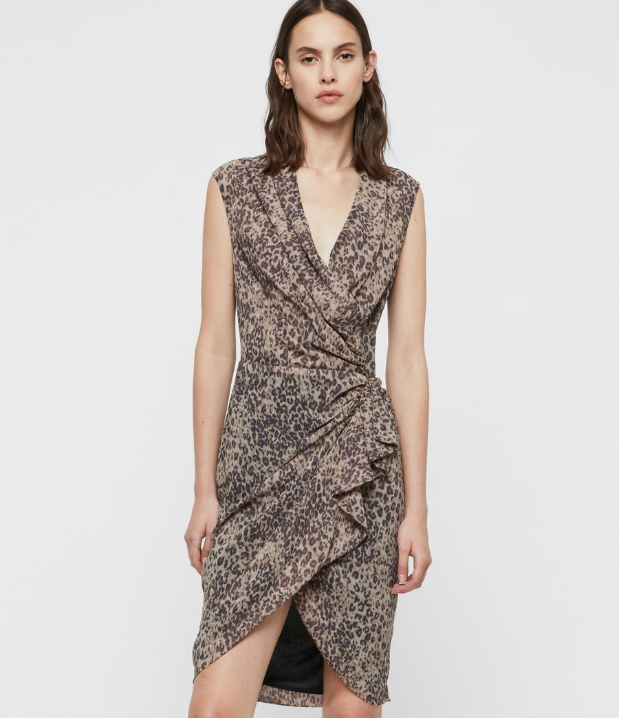 Women's Cancity Patch Dress (camel_brown) - Image 3