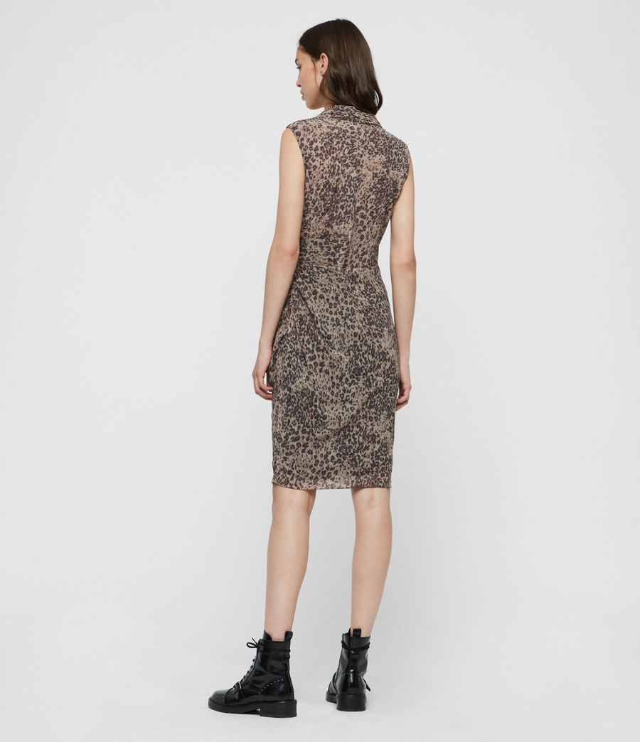 Damen Cancity Patch Kleid (camel_brown) - Image 5