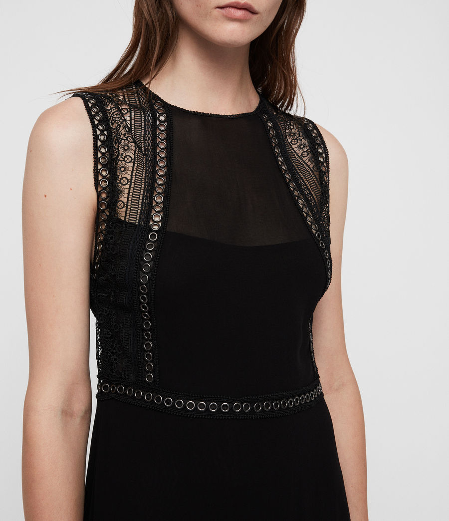 Women's Alicia Dress (black) - Image 2