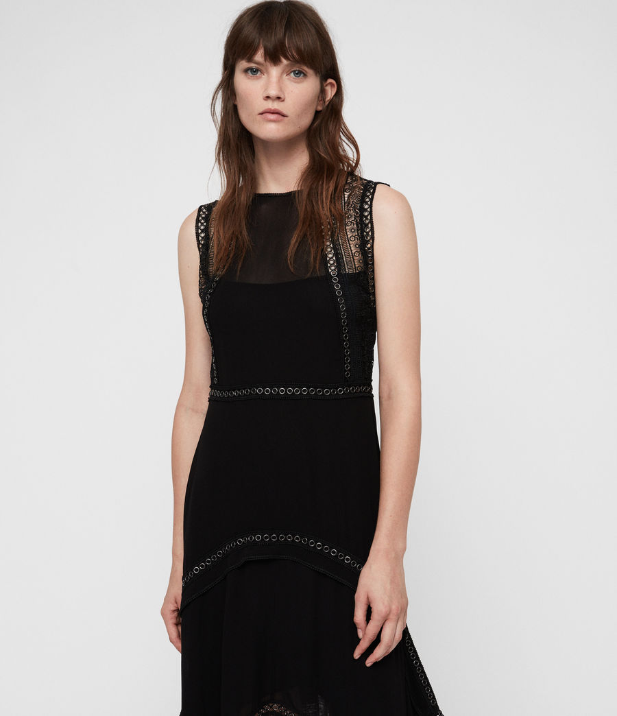 Women's Alicia Dress (black) - Image 3