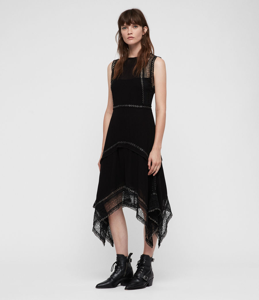 Women's Alicia Dress (black) - Image 4