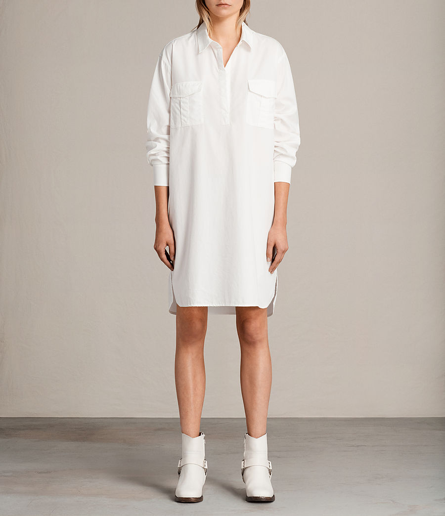 Womens Lamont Shirt Dress (chalk_white) - Image 1