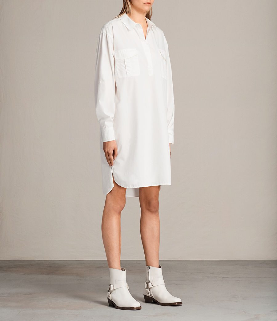 Womens Lamont Shirt Dress (chalk_white) - Image 3