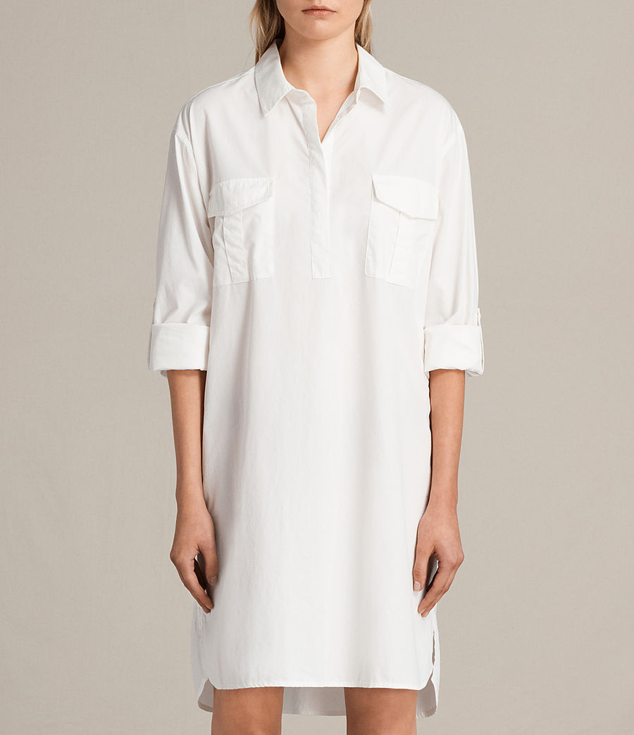Womens Lamont Shirt Dress (chalk_white) - Image 6
