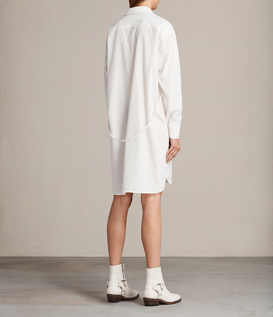Womens Lamont Shirt Dress (chalk_white) - Image 7