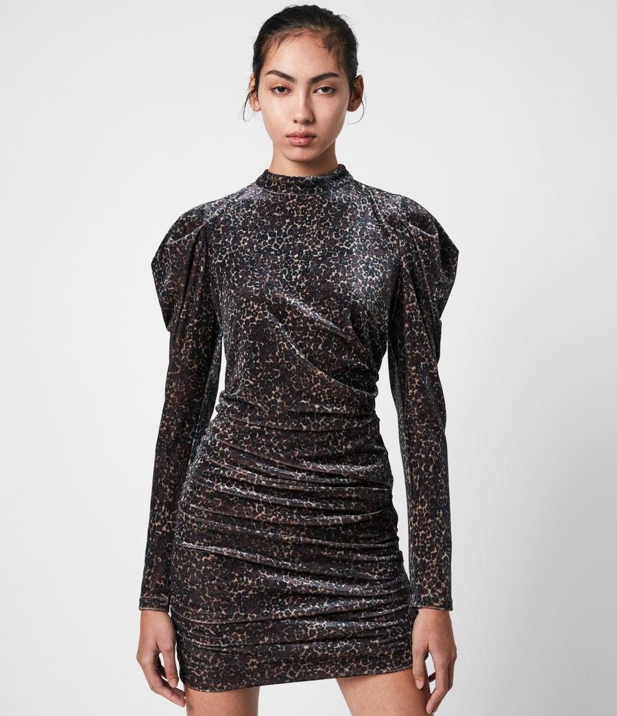 Women's Daphne Lee Dress (umber_brown) - Image 4