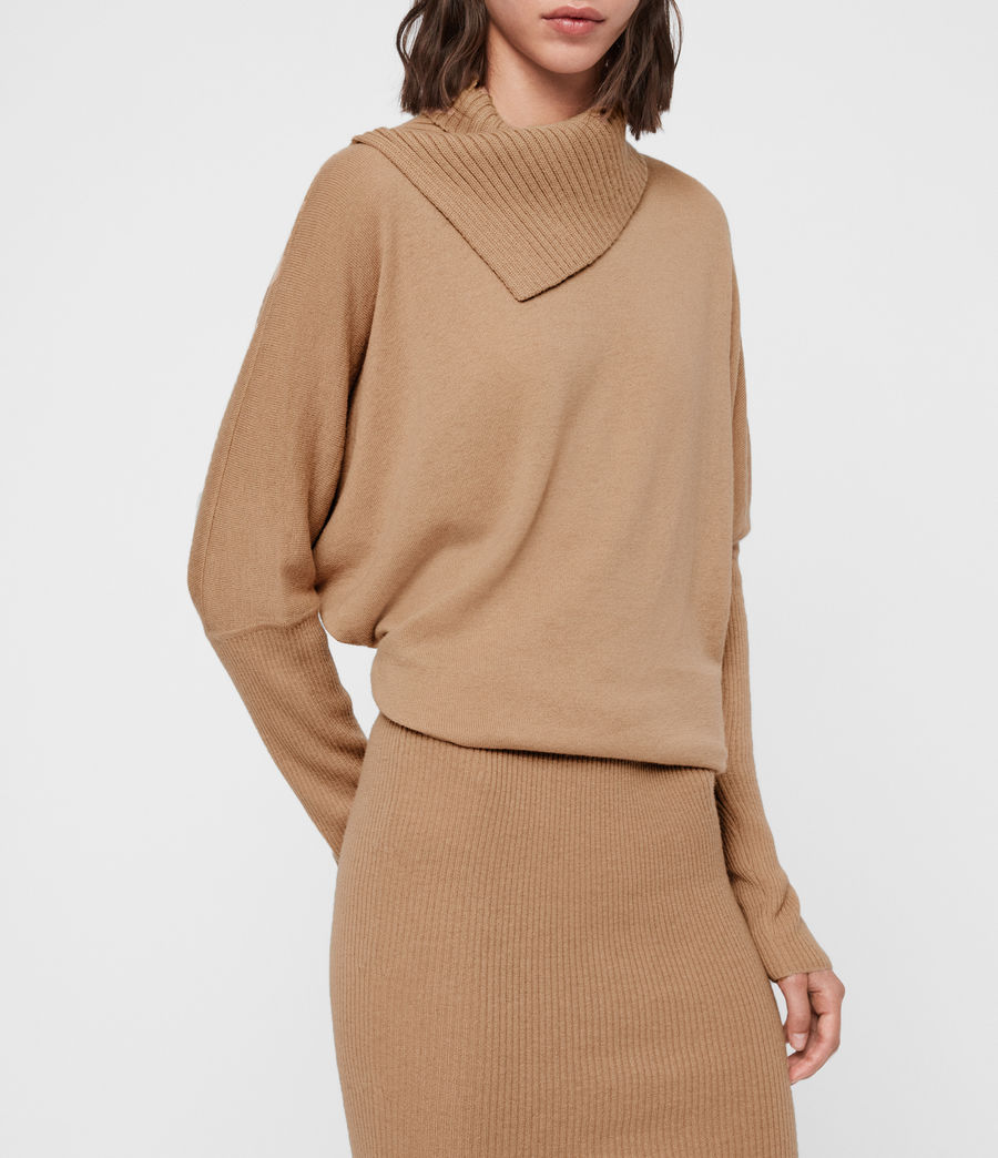 Women's Sofi Cashmere Blend Dress (toffee_brown) - Image 2