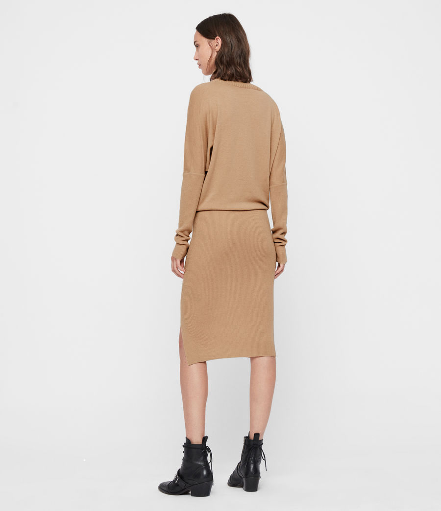 Women's Sofi Cashmere Blend Dress (toffee_brown) - Image 5