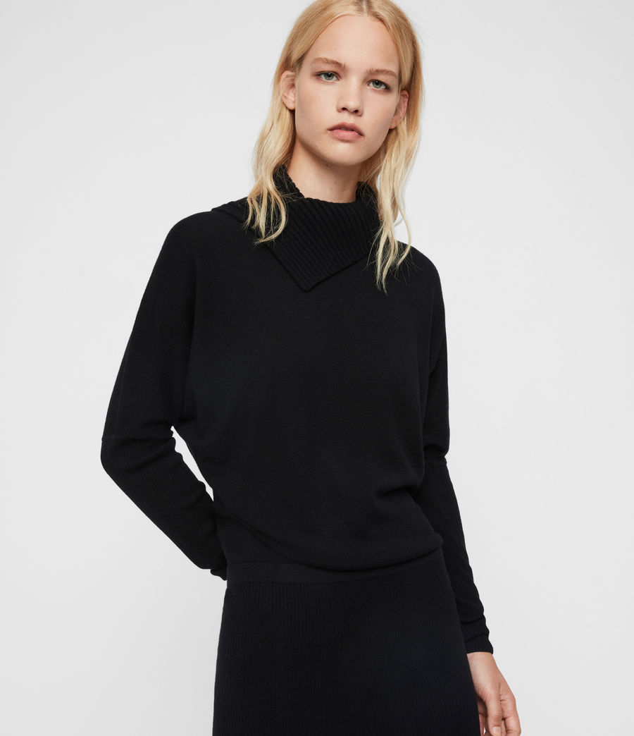 Womens Sofi Cashmere Blend Dress (black) - Image 1