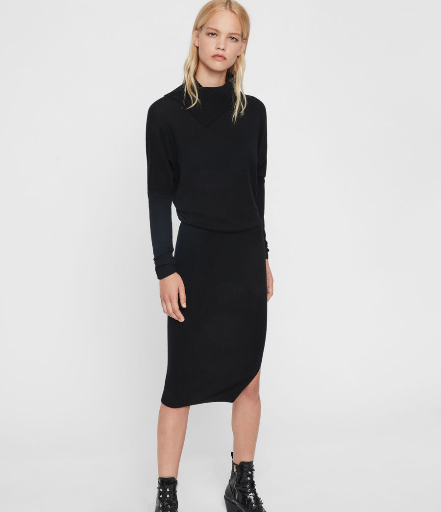 Women's Sofi Cashmere Blend Dress (black) - Image 2