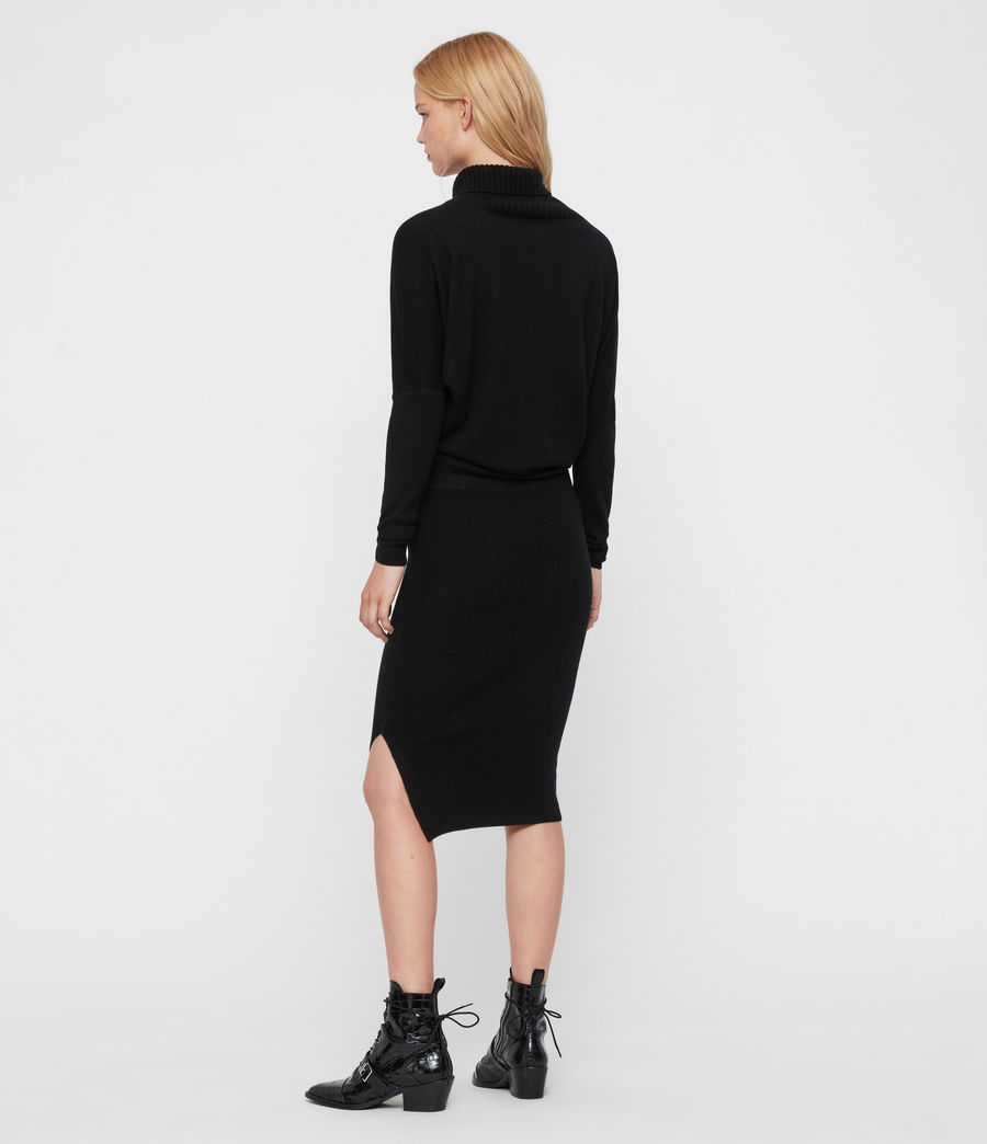 Womens Sofi Cashmere Blend Dress (black) - Image 6