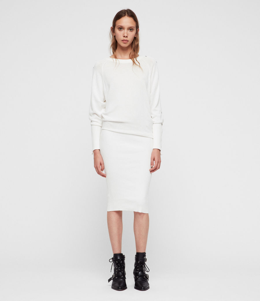Women's Suzie Dress (ivory_white) - Image 3