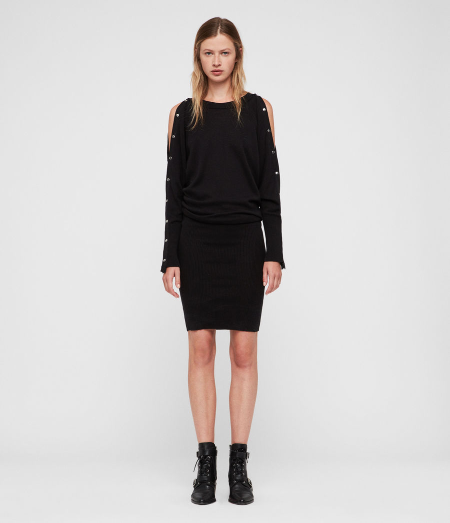 Women's Suzie Dress (black) - Image 3