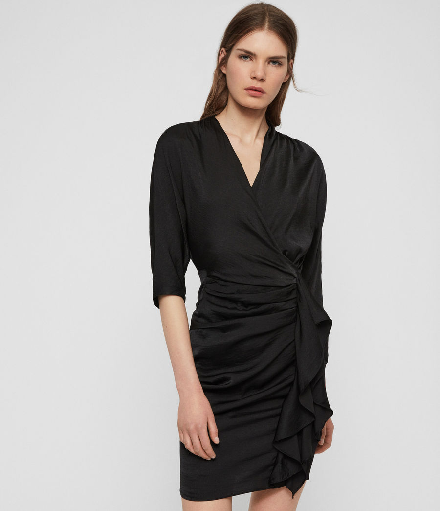 Women's Issey Dress (black) - Image 3