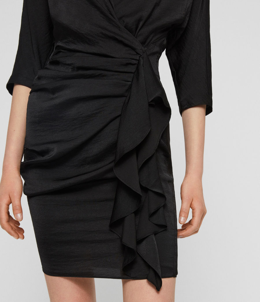Womens Issey Dress (black) - Image 5
