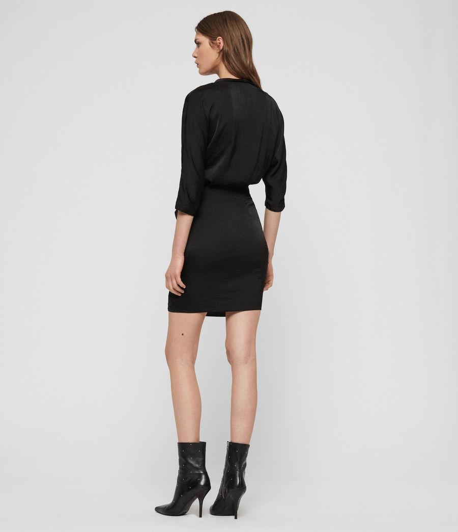 Womens Issey Dress (black) - Image 6
