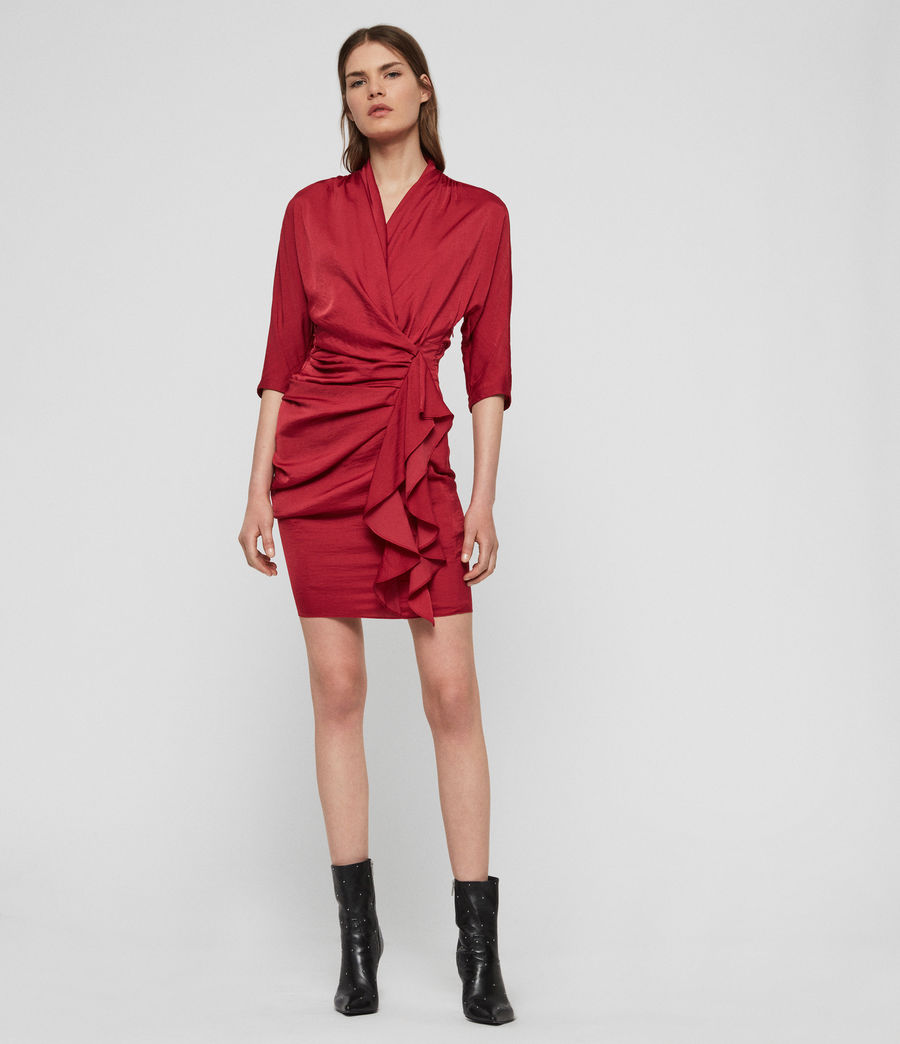 Womens Issey Dress (raspberry_pink) - Image 2