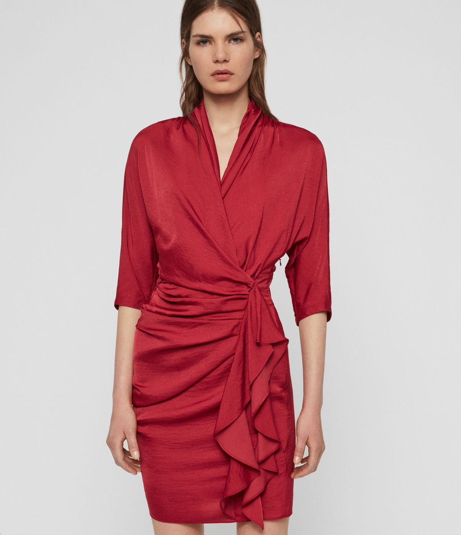 Womens Issey Dress (raspberry_pink) - Image 4