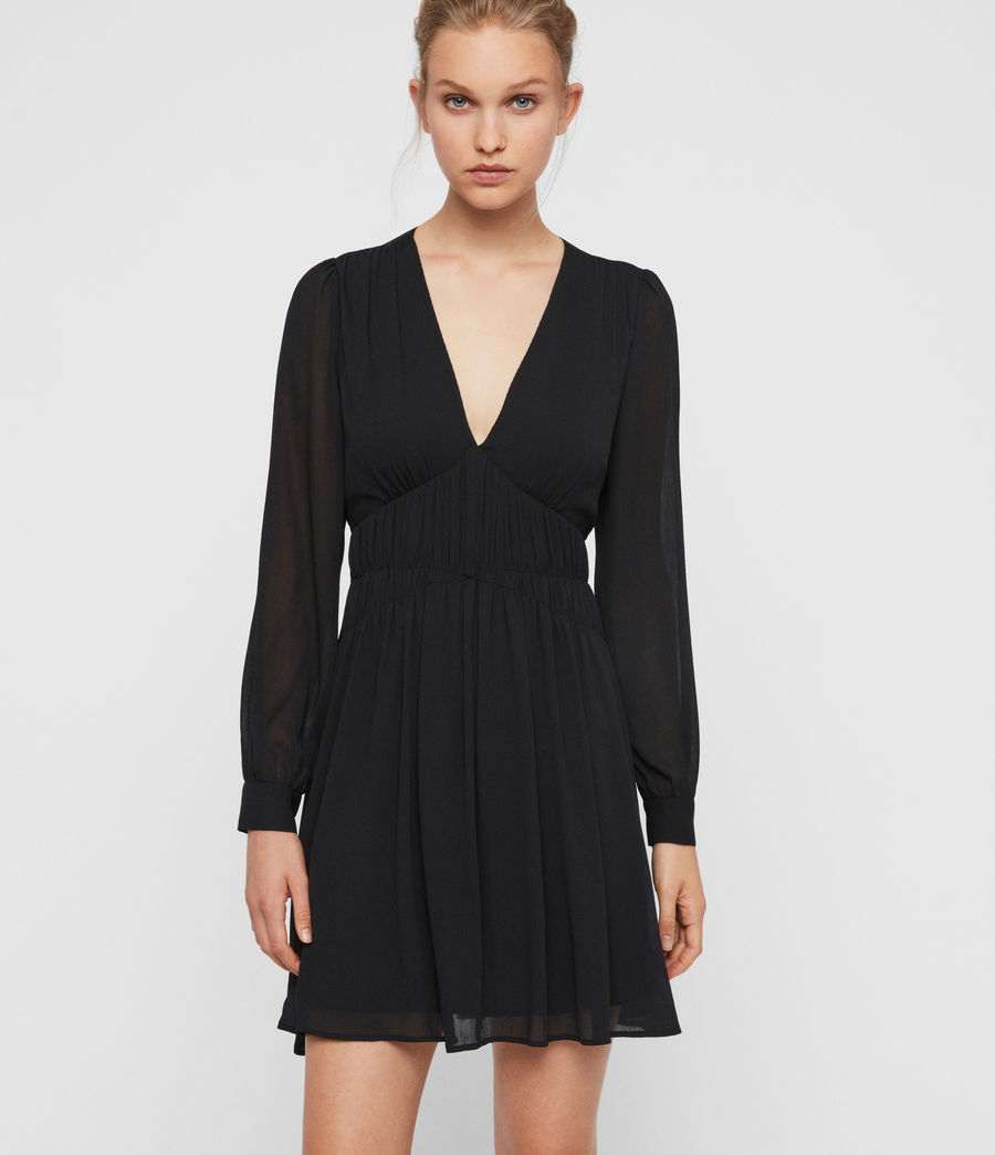 Womens Kiana Dress (black) - Image 1