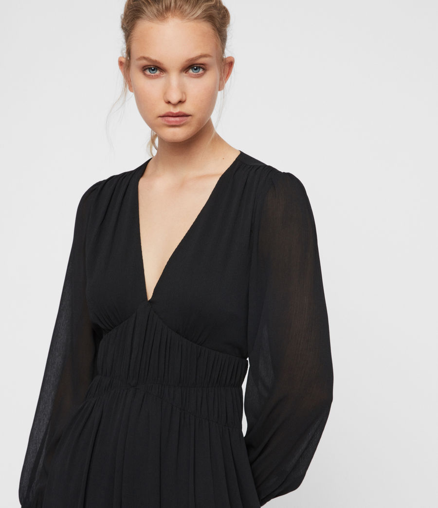 Womens Kiana Dress (black) - Image 2