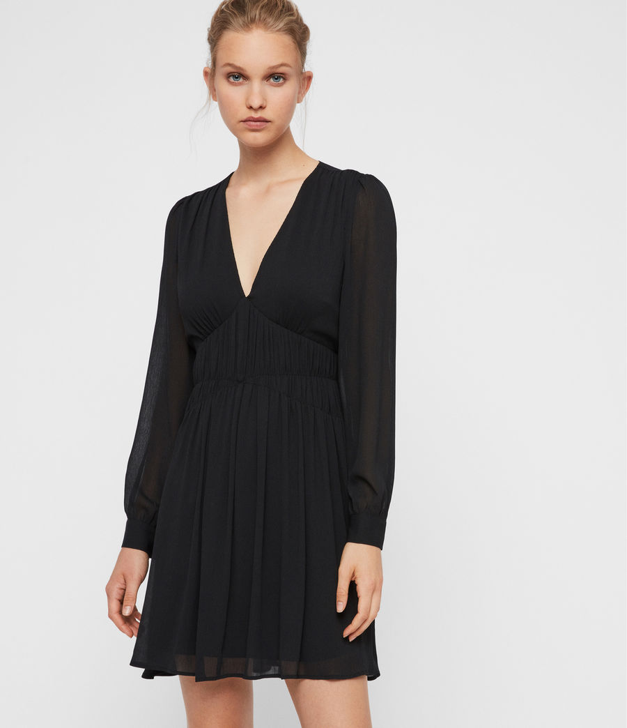 Womens Kiana Dress (black) - Image 4