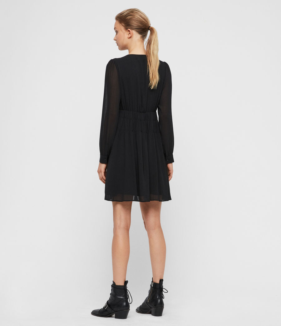 Womens Kiana Dress (black) - Image 5
