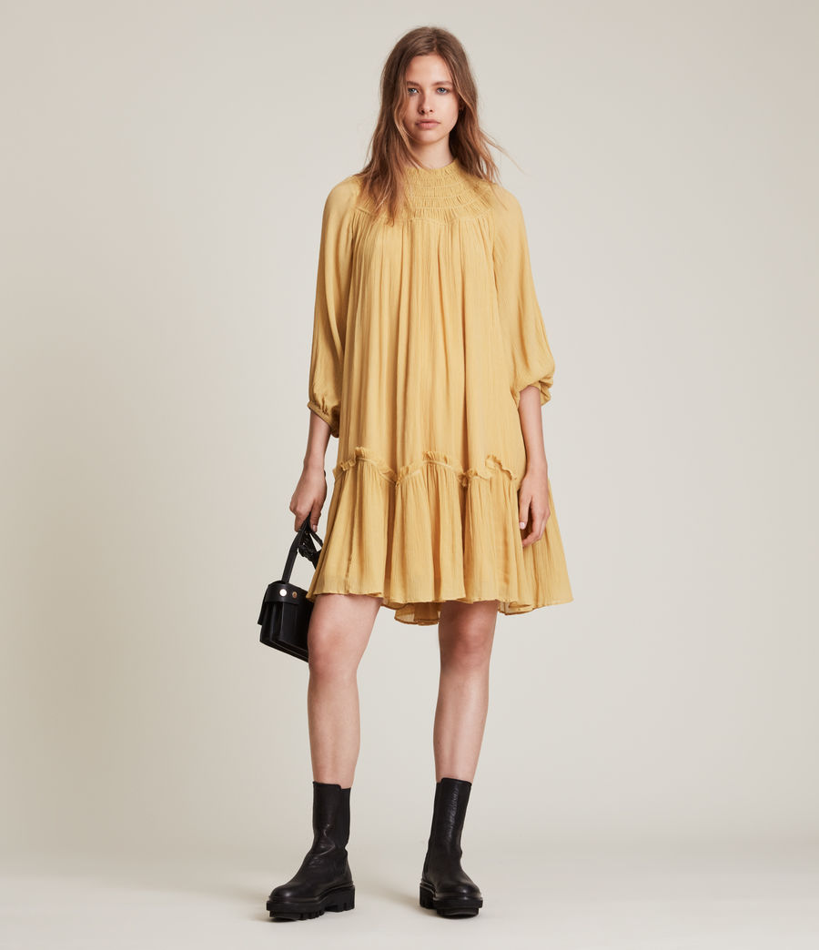 Womens Arila Dress (sunset_yellow) - Image 4