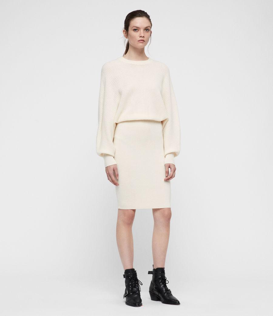 Damen Gene Kleid (chalk_white) - Image 1