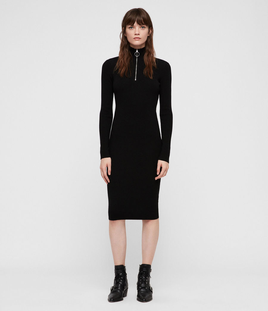 Womens Lacey Dress (black) - Image 1
