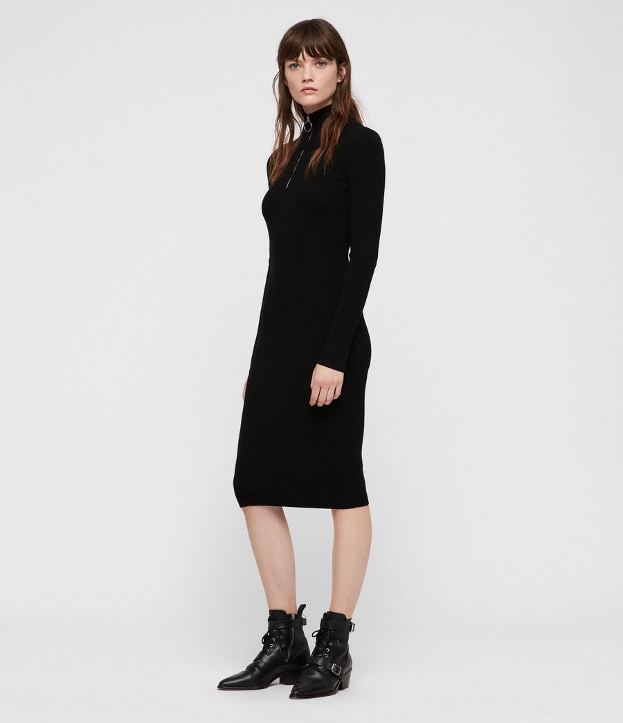 Womens Lacey Dress (black) - Image 3