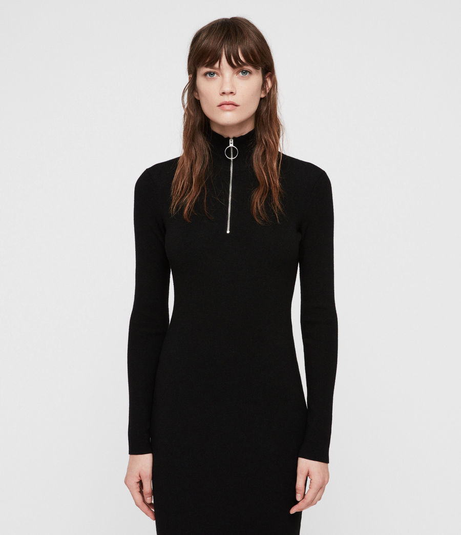 Women's Lacey Dress (black) - Image 4