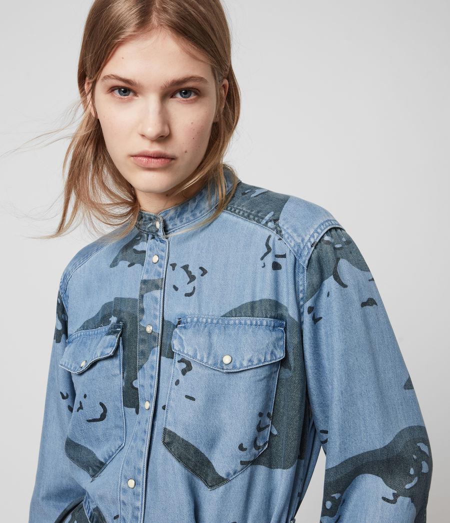 Womens Kat Camo Denim Dress (camo_blue) - Image 2