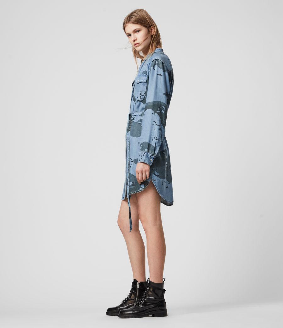 Womens Kat Camo Denim Dress (camo_blue) - Image 3