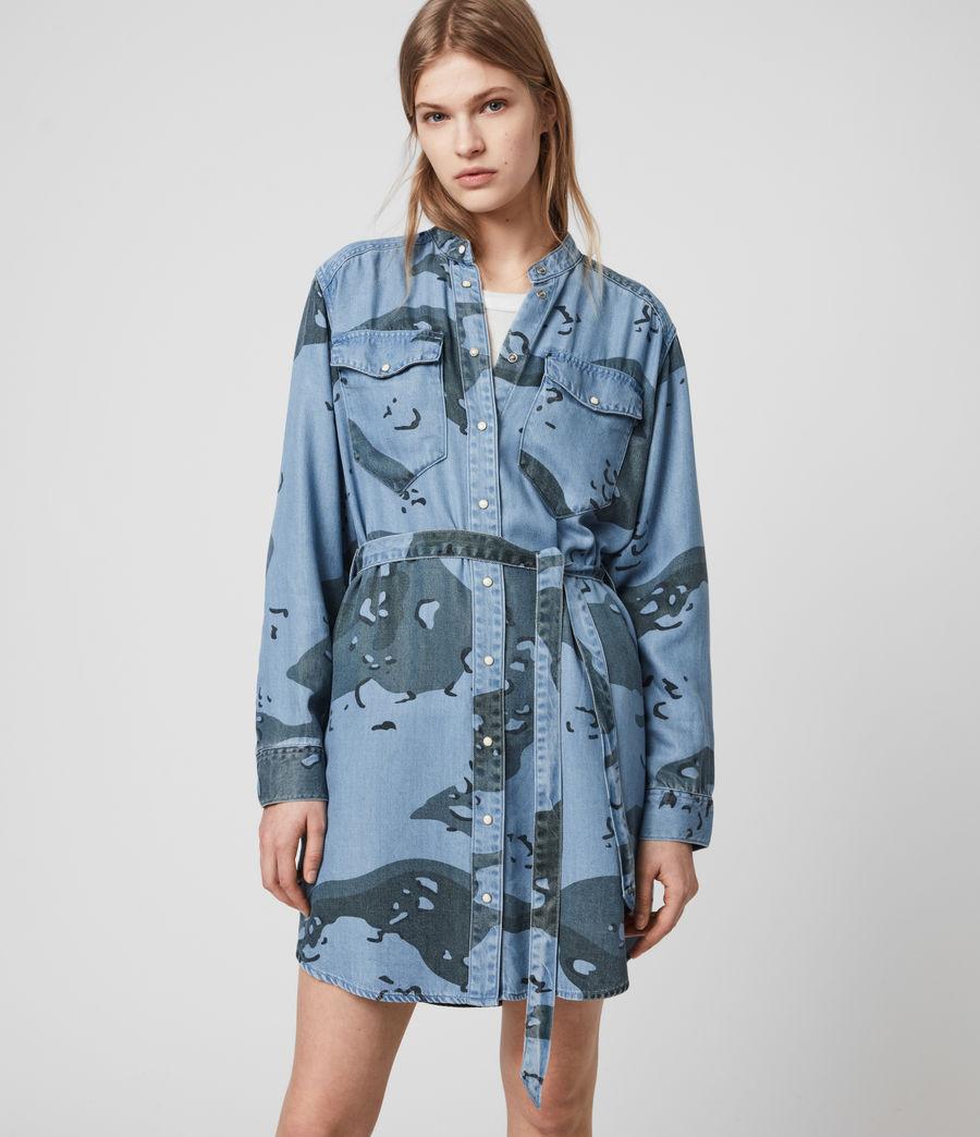 Womens Kat Camo Denim Dress (camo_blue) - Image 5