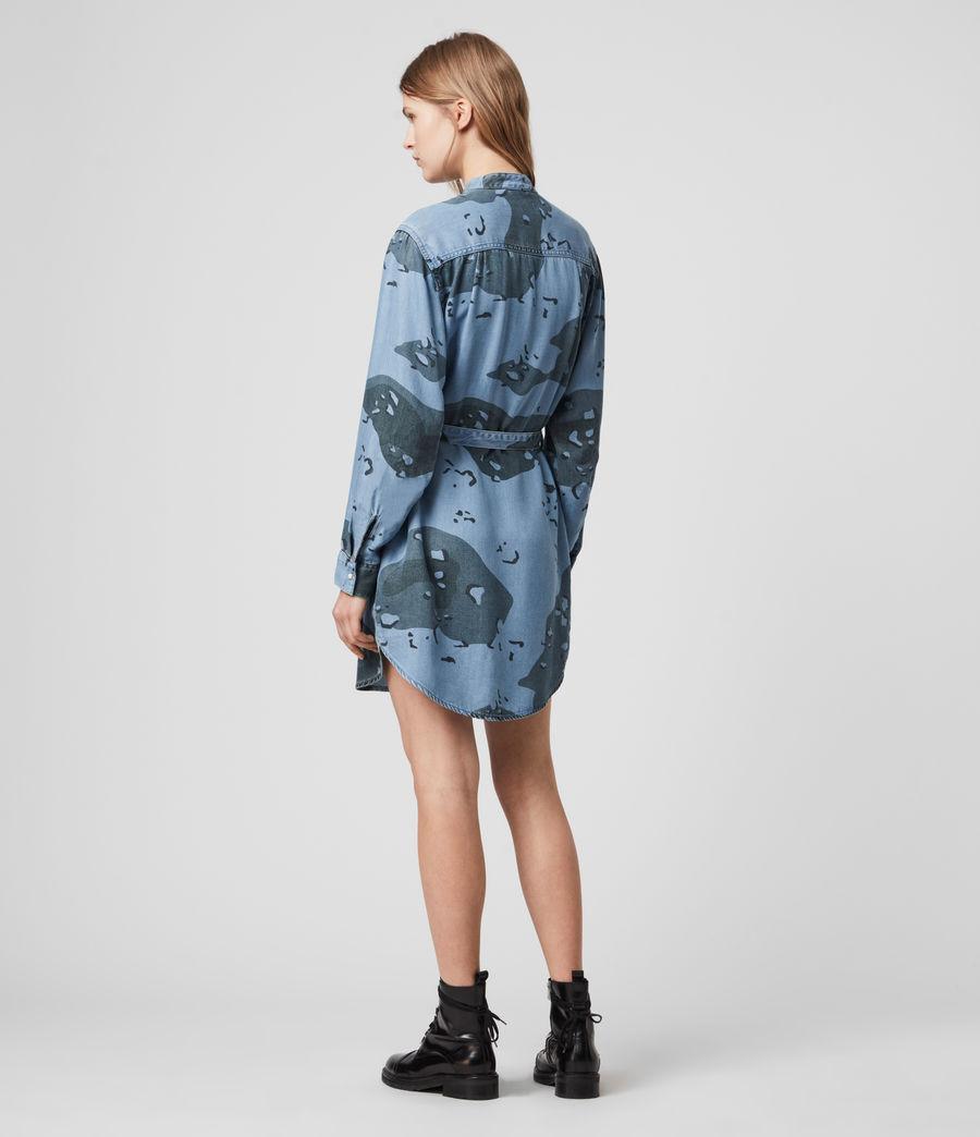 Womens Kat Camo Denim Dress (camo_blue) - Image 6