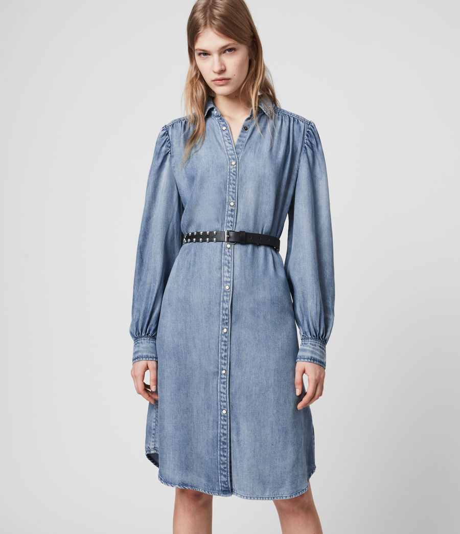 Womens Ella Denim Dress (light_indigo_blue) - Image 1
