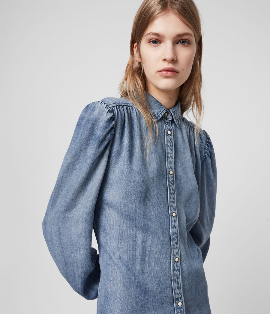 Womens Ella Denim Dress (light_indigo_blue) - Image 2
