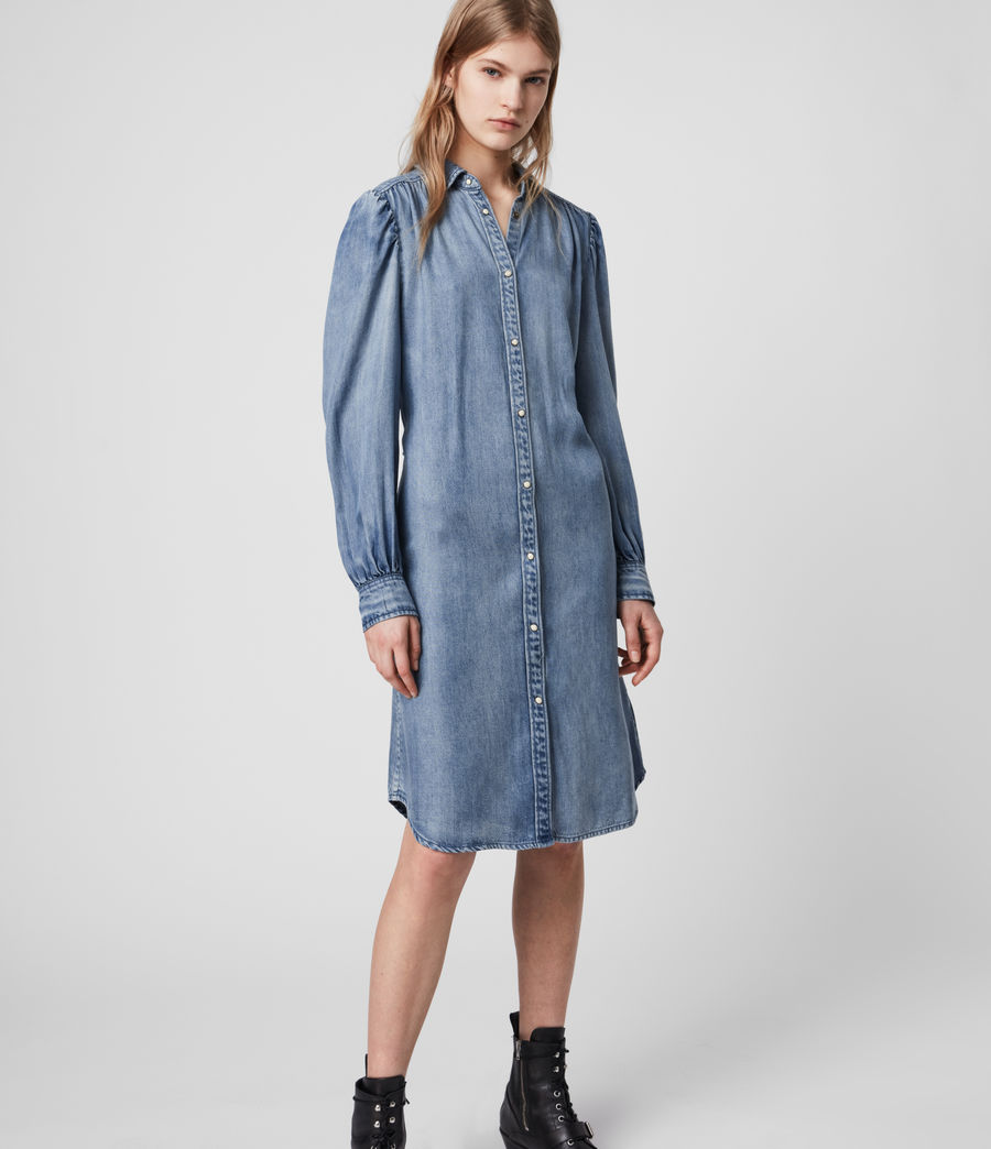 Womens Ella Denim Dress (light_indigo_blue) - Image 3
