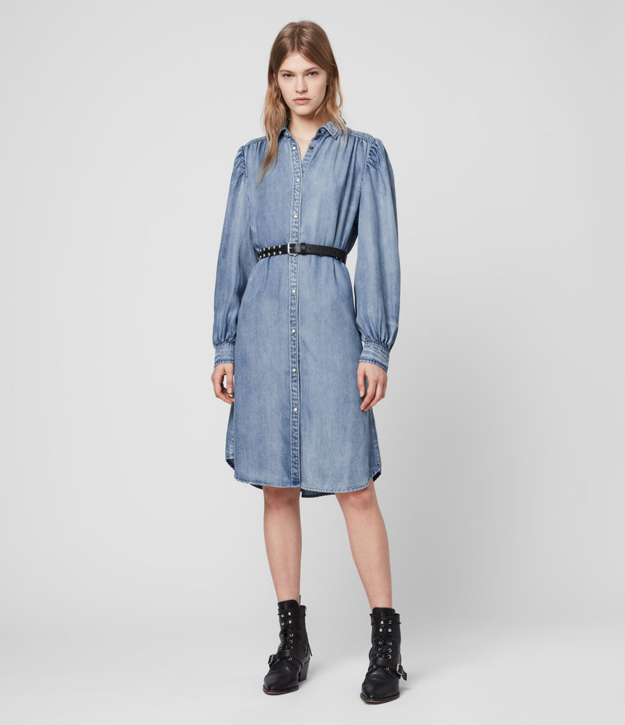 Womens Ella Denim Dress (light_indigo_blue) - Image 4