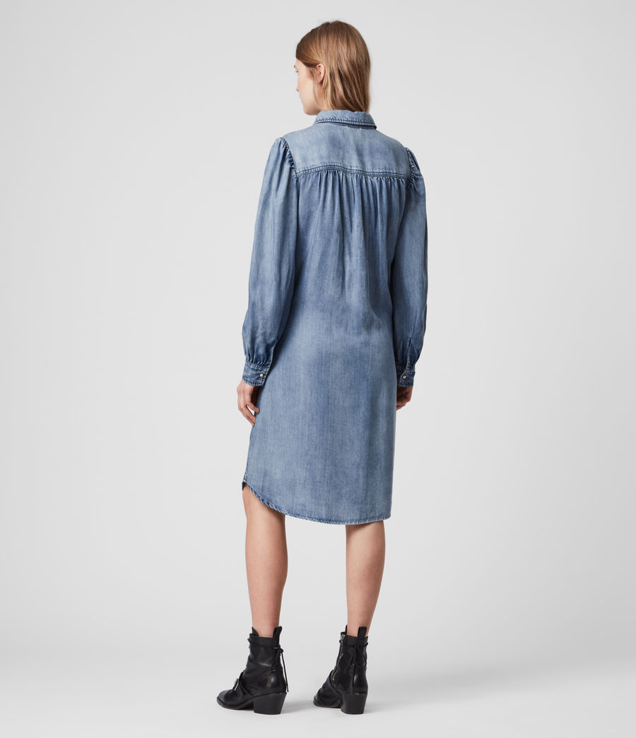 Womens Ella Denim Dress (light_indigo_blue) - Image 5