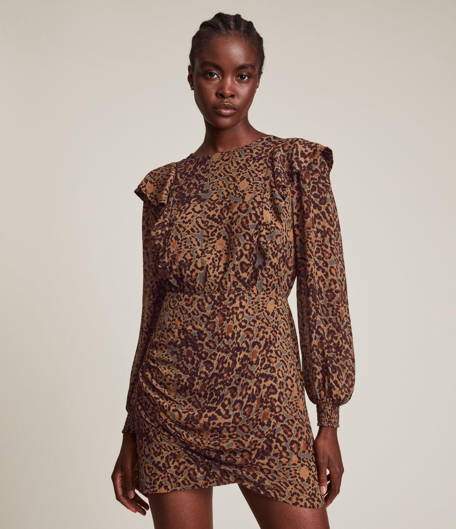 Women's Elodie Halftone Dress (spiced_honey_brown) - Image 3