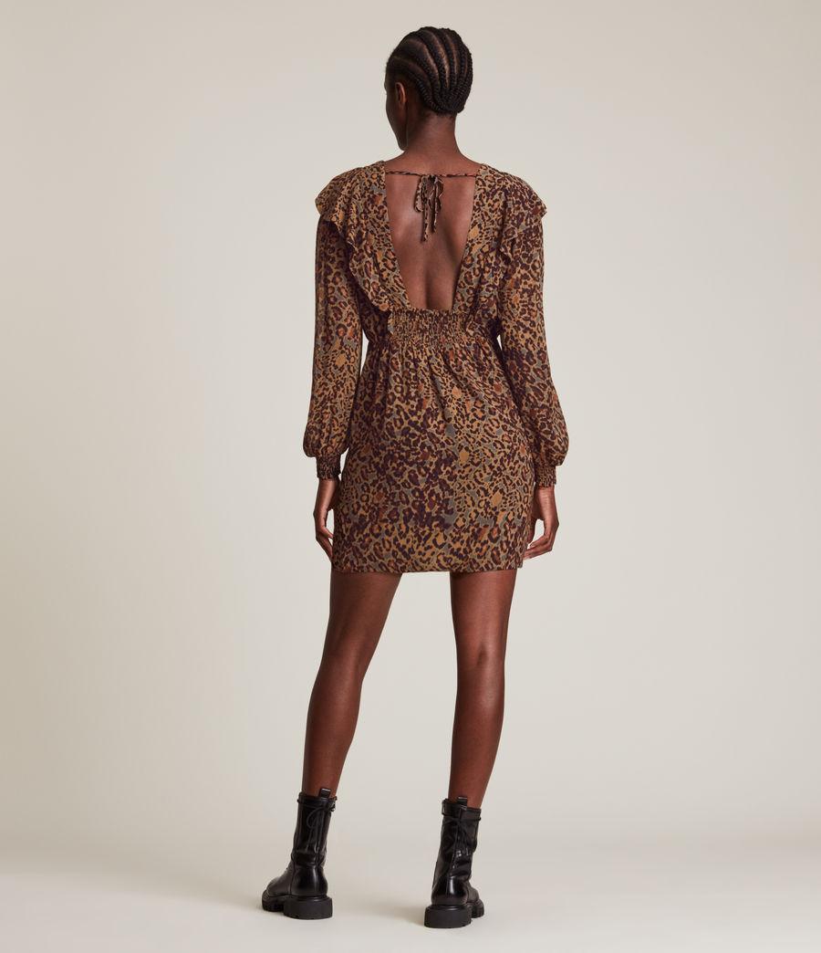 Women's Elodie Halftone Dress (spiced_honey_brown) - Image 5