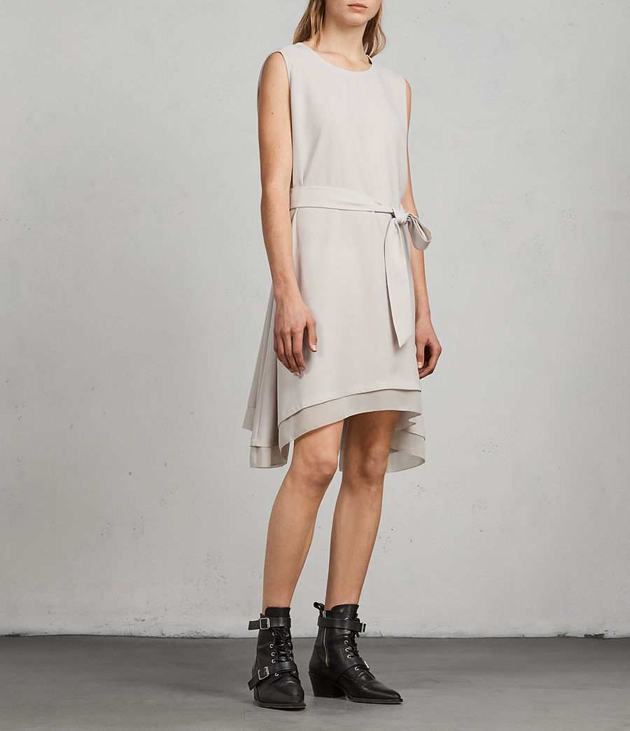 Women's Nyla Dress (oyster_white) - Image 1