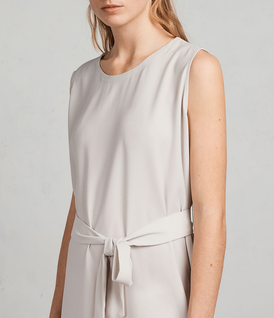 Women's Nyla Dress (oyster_white) - Image 2