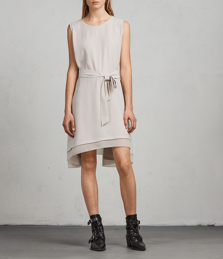 Women's Nyla Dress (oyster_white) - Image 3