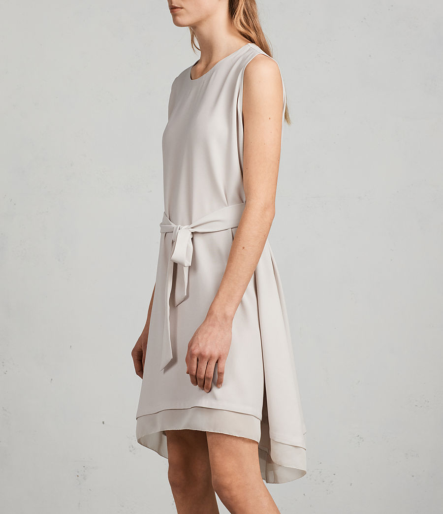 Women's Nyla Dress (oyster_white) - Image 4