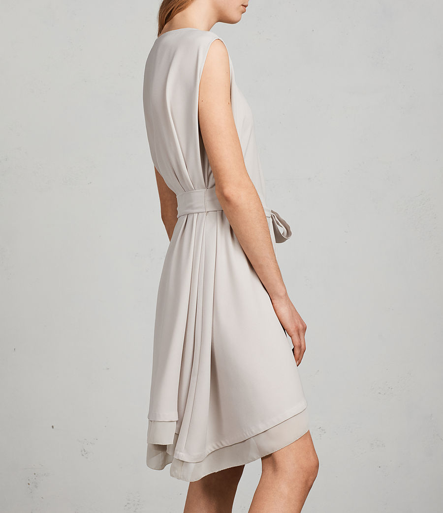 Women's Nyla Dress (oyster_white) - Image 5