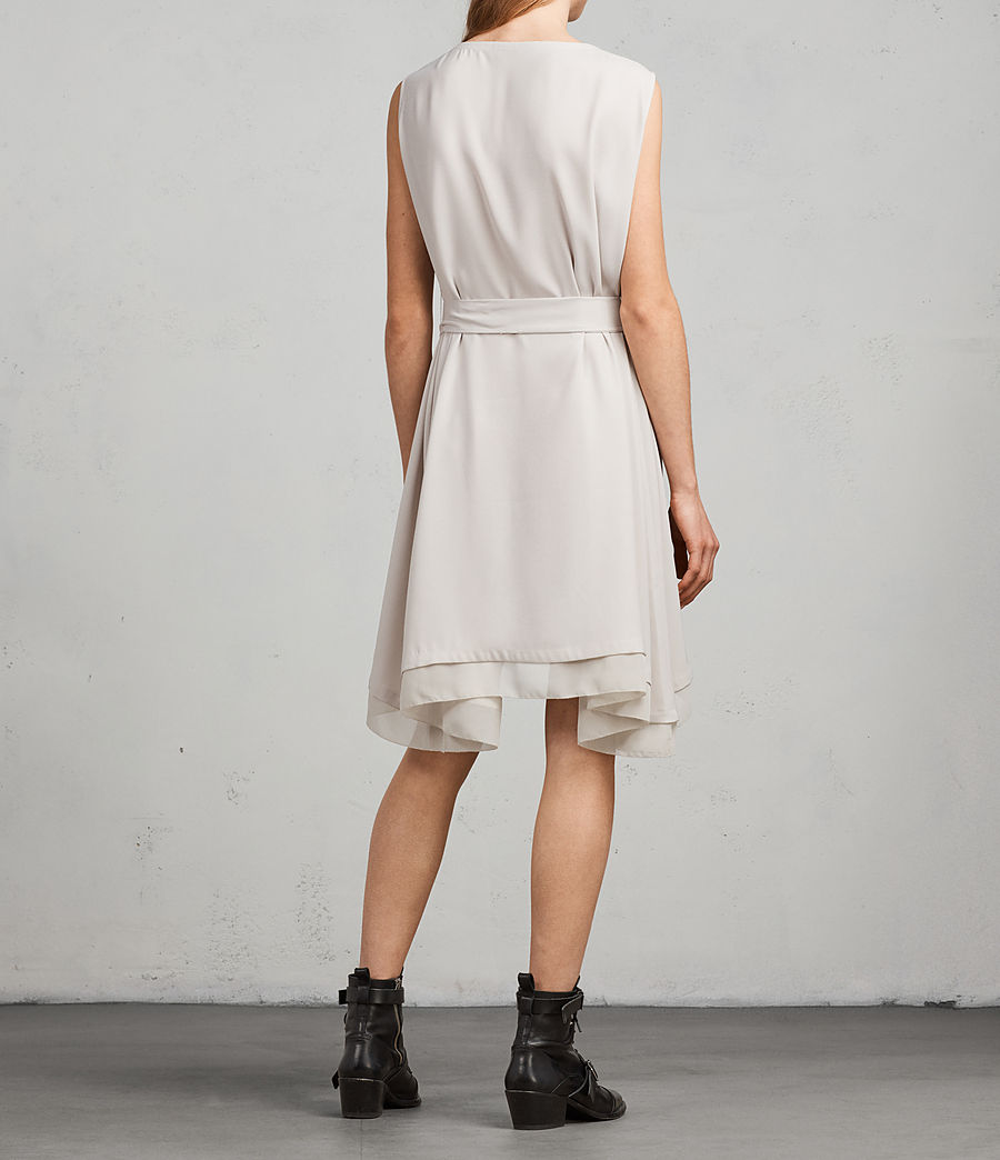Women's Nyla Dress (oyster_white) - Image 6